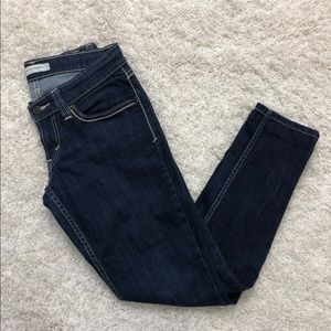 Levi's 524 Too Superlow Dark Wash Skinny Jeans